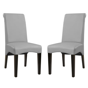 Emerald Home Briar II Upholstered Cement Dining Chair- Set of 2
