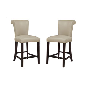 Emerald Home Briar III 24-Inch Taupe Barstool- Set of 2