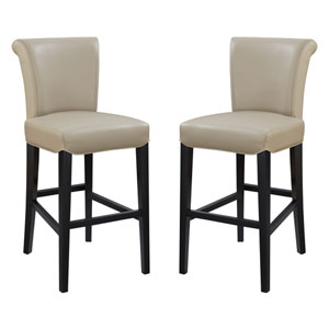 Linden Taupe 30-Inch Barstool- Set of 2