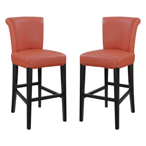 Emerald Home Briar III 30-Inch Orange Barstool- Set of 2