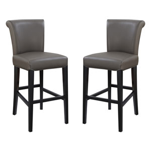 Emerald Home Briar III 24-Inch Gray Barstool- Set of 2