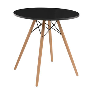 Annette Complete Table-Round Black  27.5-inch