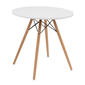 Annette Complete Table-Round White  27.5-inch
