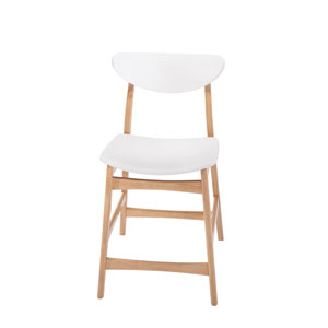 Simplicity Barstool Wood Back with Upholstered Seat