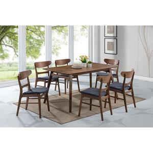 Emerald Home Simplicity 60-Inch Rectangular Walnut Dining Table