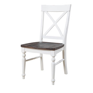 Hayden X-Back Dining Chair with Wood Seat, Set of 2