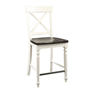 Hayden X-Back Barstool with Wood Seat, Set of 2