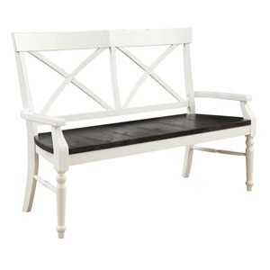 Emerald Home Mountain Retreat Dining Bench