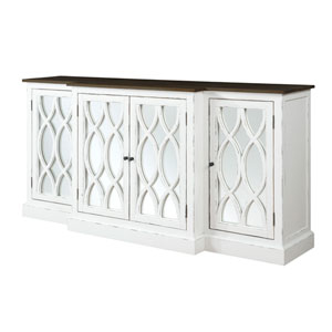 Mountain Retreat 78-inch Cabinet with Mirror Accent
