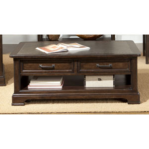 Crystal Ridge Rectangular Cocktail Table w/ Two-Drawers