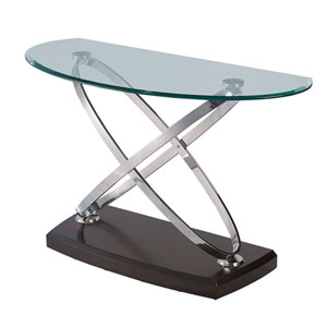 Vision Sofa Table with Glass Top