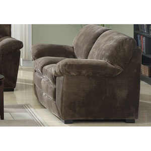 Devon Champion Mocha Pillow Top Loveseat