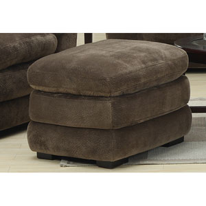 Devon Champion Mocha Pillow Top Ottoman