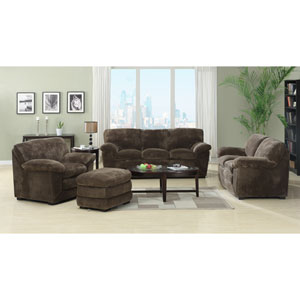 Devon Four Piece Living Room Set- Sofa, Loveseat, Chair and Ottoman