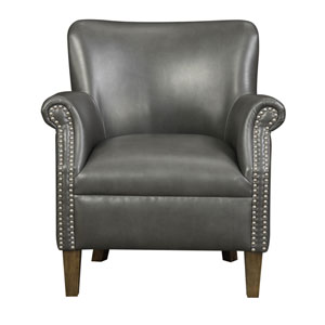 Evelyn Dark Gray Accent Chair