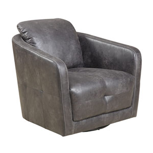Blakely Grey Swivel Chair in Palance Steel Color