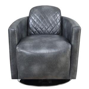 Emerald Home Dundee Gray Swivel Chair