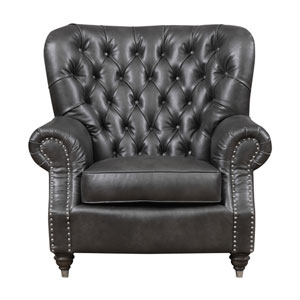 Capone Accent Chair-Charcoal