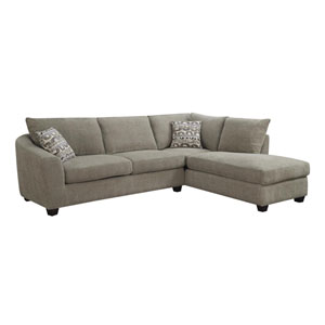 Urbana 2 Piece Sectional Sofa Chaise with 2 Accent Pillows