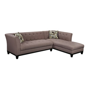Marion Sofa Chaise with 2 Accent Pillows