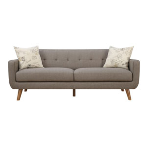 Remix Sofa Brown with 2 Accent Pillows