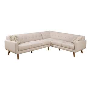 Remix 2 Piece Sectional Sofa with 2 Accent Pillows