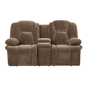 Caressa Motion Loveseat with Console