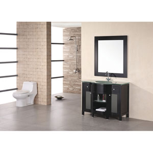 Rome 43 Inch Mahogony Single Sink Vanity Set