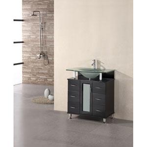 Huntington Dark Espresso 30 Inch Single Sink Vanity Set