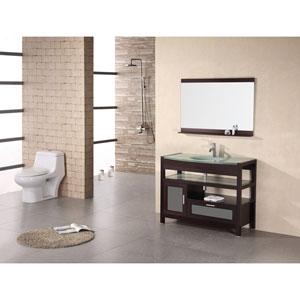 Milan 43 Inch Mahogony Single Sink Vanity Set