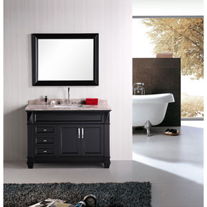 Hudson Dark Espresso 48 Inch Single Sink Bathroom Vanity Set
