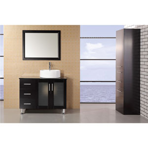 Malibu Dark Espresso 60 Inch Dark Espresso Single Sink Modern Bathroom Vanity