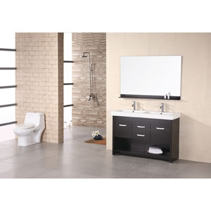 Citrus Dark Espresso 48 Inch Double Sink Vanity Set