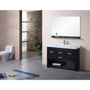 Citrus Dark Espresso 48 Inch Single Sink Bathroom Vanity Set