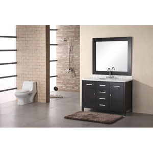 London Dark Espresso 48 Inch Single Bathroom Vanity (Cabinet Sold Separately)