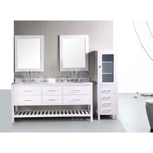 London 72 Inch Double Sink Bathroom Vanity
