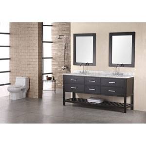 Dark Espresso 72 Inch Double Sink Vanity Set