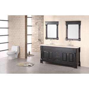 Andover Dark Espresso 72 Inch Double Sink Vanity Set