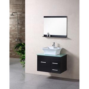 Madrid Dark Espresso 30 Inch Single Sink Bathroom Vanity Set