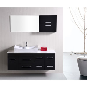 Springfield Dark Espresso 53 Inch Single Sink Vanity Set