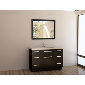 Moscony Dark Espresso 48 Inch Single Sink Vanity Set