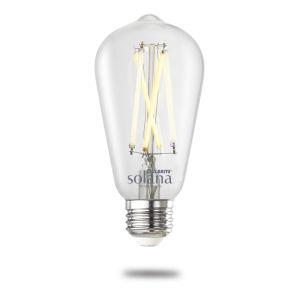 Clear Smart LED ST18 60 Watt Equivalent Standard Base Tunable Color Temperature 800 Lumens Smart Home Light Bulb