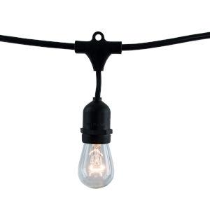 Black S14, E26 10-Light String Light