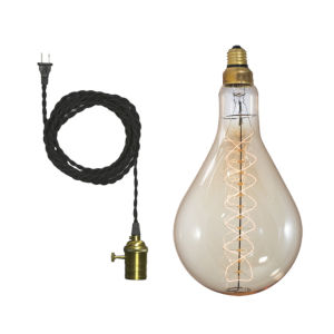 Antique PS56, E26 One-Light Wire Pendant Kit
