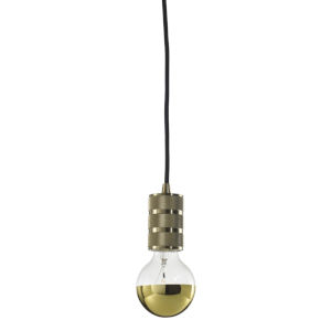Warm Gold G25, E26 One-Light Wire Pendant Kit