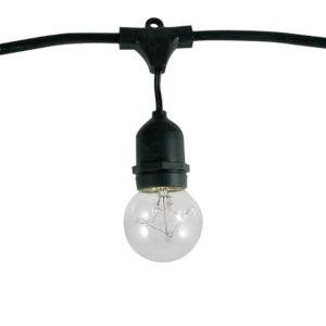 Black G16, E26 15-Light String Light