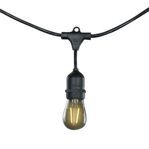 Black S14, E26 25-Feet 15-Light String Light