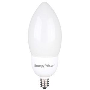 Frost CFL B11 40 Watt Equivalent Candelabra Base Warm White 320 Lumens Light Bulb - 6 Pack