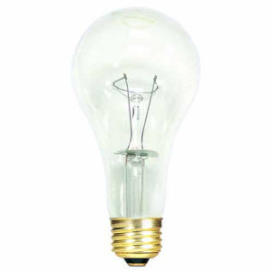 Clear A21, E26 2700K 150W Incandescent Bulb, Pack of 12