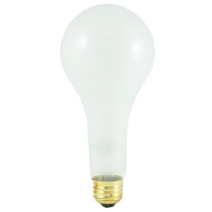 Frost Incandescent PS25 Standard Base Warm White 3600 Lumens Light Bulb